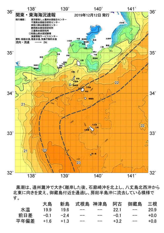 海の天気図2019年12月12日 | 東京都島しょ農林水産総合センター