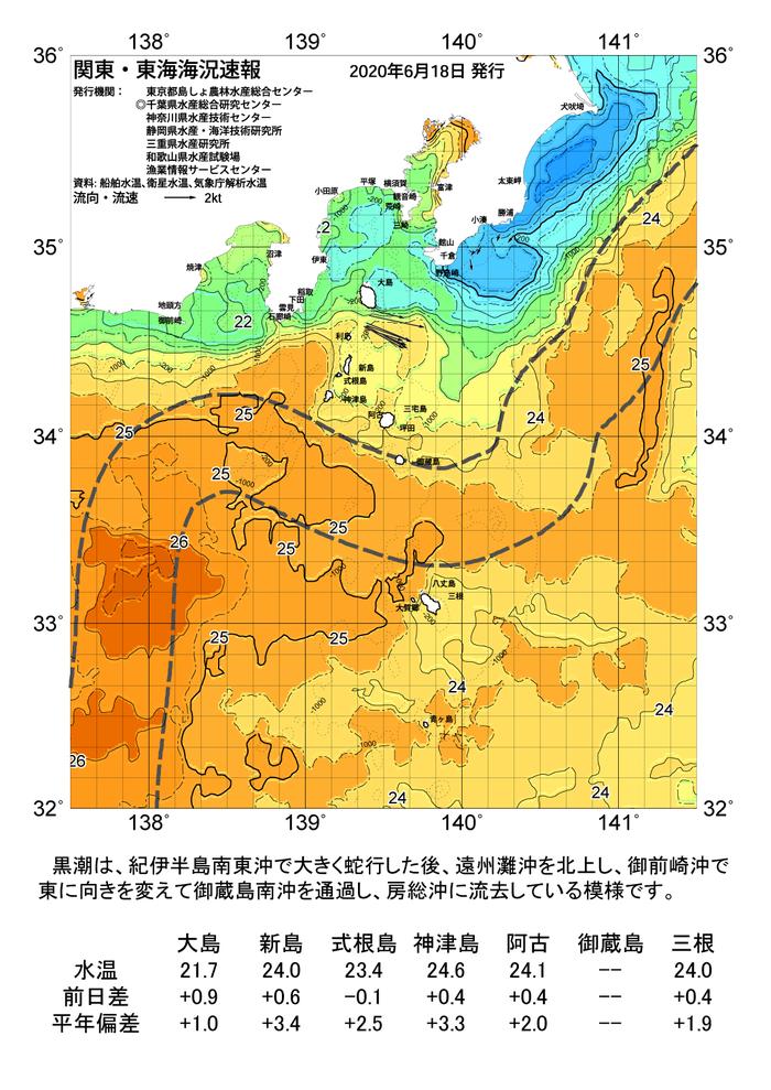 海の天気図2020年6月18日